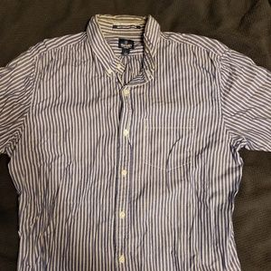 Mens Old Navy Striped Button Down Shirt